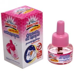 Жидкость от комаров для электрофумигаторов 30мл для всей семьи 45 ночей Insectum Laboratory