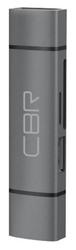 Картридер USB Type-C/USB 3.0 (2 в 1) Card reader CBR Gear, до 5 Гбит/с,microSD/T-Flash/SD/SDHC/SDXC,доп.выход USB 3.0 хаб, поддержка O
