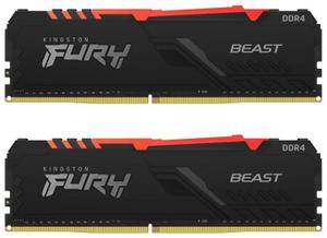 Оперативная память Kingston FURY [KF437C19BB1AK2/32] Beast RGB 32 Гб DDR4