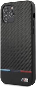 Чехол накладка BMW для Apple iPhone 12/12 Pro черный