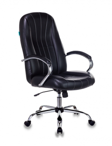 Кресло офисное Бюрократ T-898SL, BLACK черный искусственная кожа крестовина хром