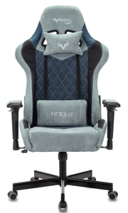 Кресло игровое Бюрократ Zombie VIKING 7 KNIGHT Fabric синий