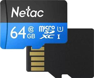 Карта памяти Netac [NT02P500STN-064G-R] 64 Гб + SD Adapter