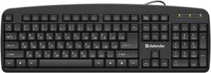 Клавиатура проводная Defender Office HB-910 черный