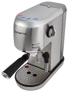 Кофеварка рожковая Polaris PCM 2001AE серебристый