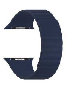 Кожаный ремешок для Apple Watch 42/44 mm LYAMBDA POLLUX DSP-24-44-DB Dark Blue