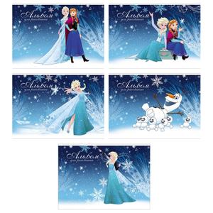 """Альбом для рисования 24л., А4, на скрепке Hatber """"Disney. Холодное сердце"""", фольгирование"""