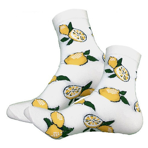 """Дизайнерские носки серии Весело и вкусно """"Цитрусы на ветке"""""""