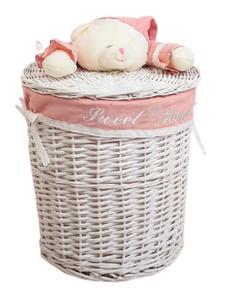 Корзина универсальная плетёная «Медвежонок розовый», 45×45×55см Доляна