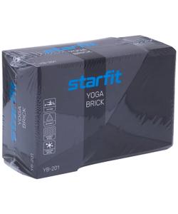 Блок для йоги STARFIT YB-201 EVA, 22,8x15,2x10 см, 350 гр, черно-серый