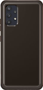 Чехол (клип-кейс) Samsung для Samsung Galaxy A32 Soft Clear Cover черный (EF-QA325TBEGRU)