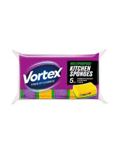 Губка кухонная 5шт VORTEX