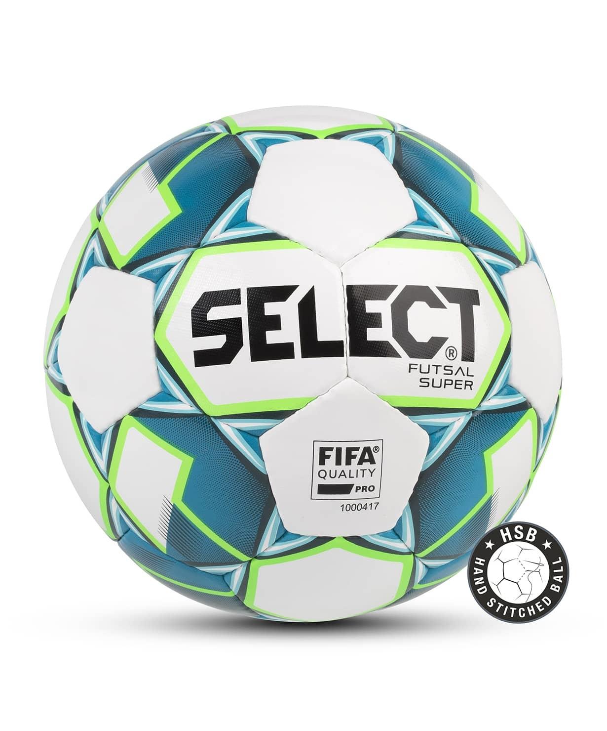 Мяч футзальный FUTSAL SUPER FIFA №4, бел/син/зел