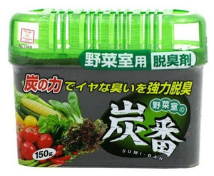 Дезодорант-поглотитель неприятных запахов для холодильника с древесным углём (овощная камера) 150гр Kokubo