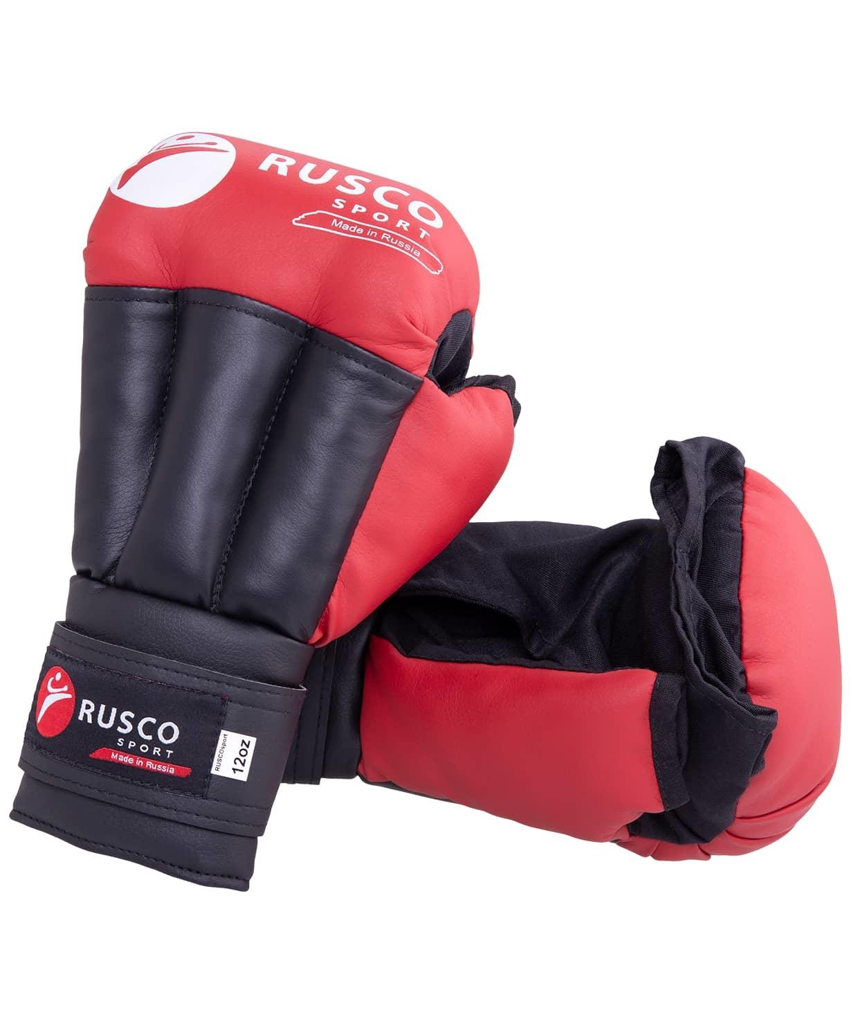 Перчатки для рукопашного боя, к/з, красные