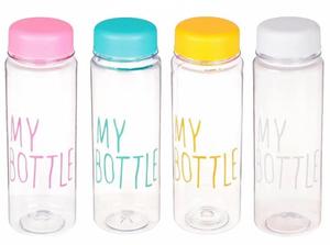"Бутылка для воды 500 мл ""My bottle"", микс, 19,5х6 см 1684715"