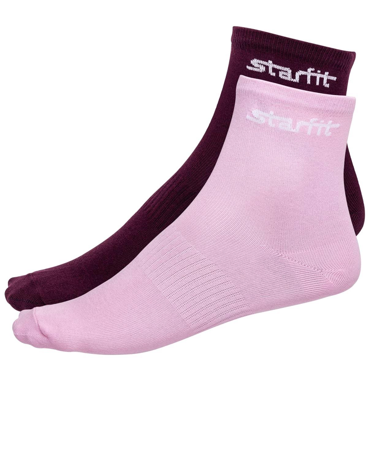 Носки средние SW-206, бордовый/светло-розовый, 2 пары