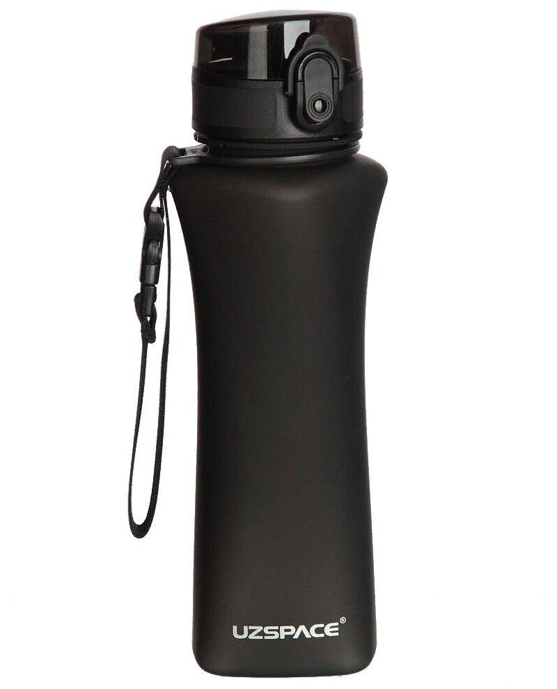 Бутылка для спорта UZSPACE, One-touch Sports, 500 ml (6008) (черный)
