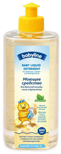 Средство для мытья посуды, сосок, бутылочек 500мл Babyline
