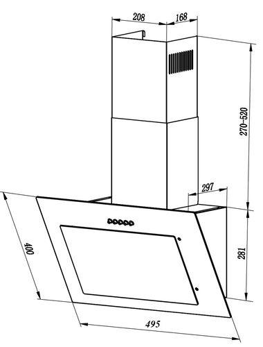 Вытяжка каминная LEX Mika G 500 WH белый