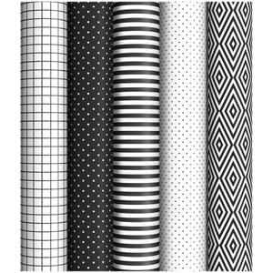 """Упаковочная бумага глянц. 70*100см, ArtSpace """"Black&White"""", 1 лист, 65г/м2, ассорти 5 дизайнов"""