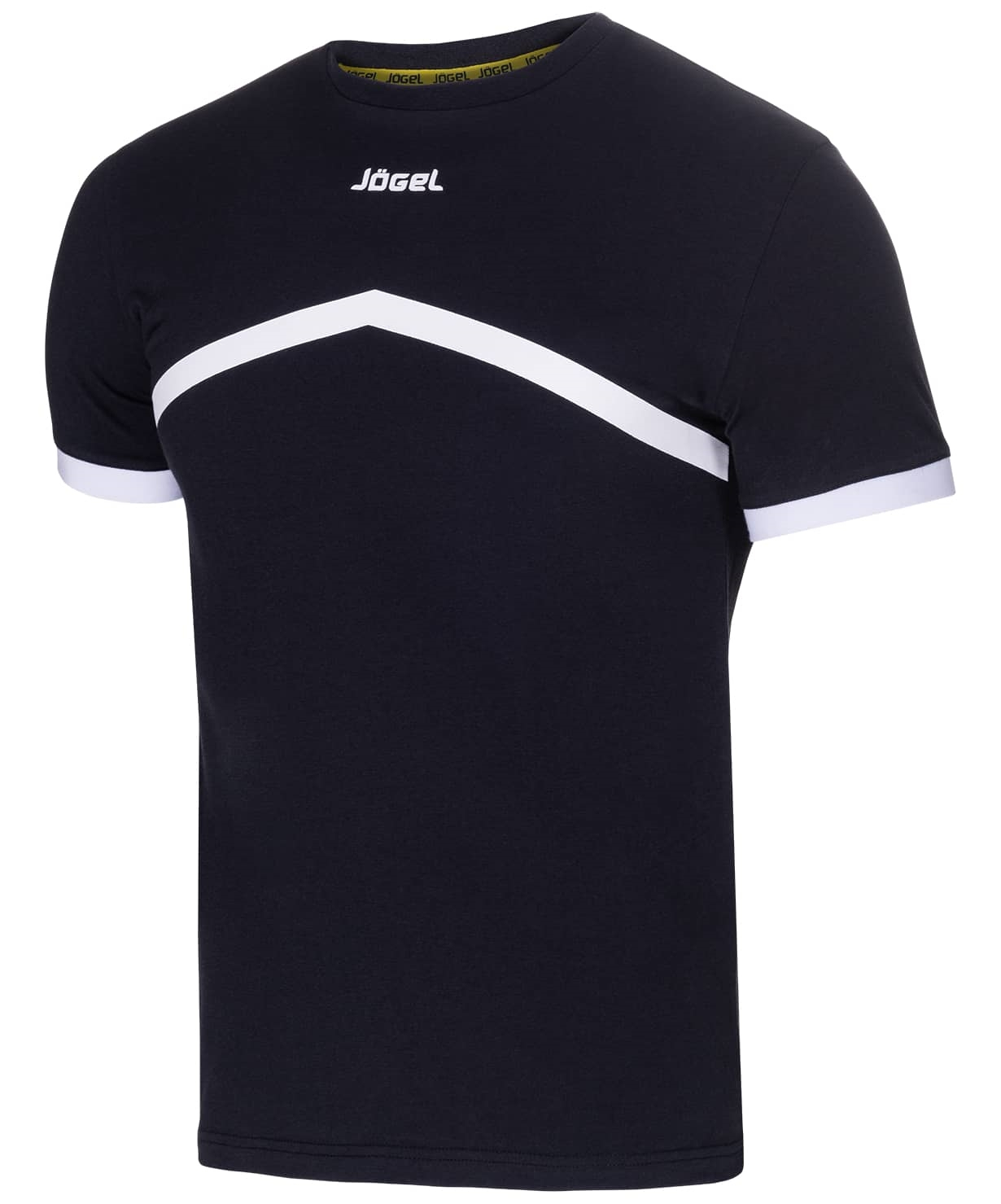 Футболка тренировочная детская JCT-1040-061, хлопок, черный/белый, детская