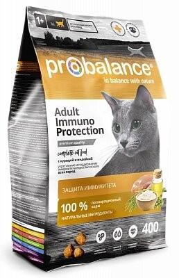 Сухой корм ProBalance ADULT Immuno Protection Корм сухой для кошек с курицей и индейкой 400г. ( 8 шт. в уп.)