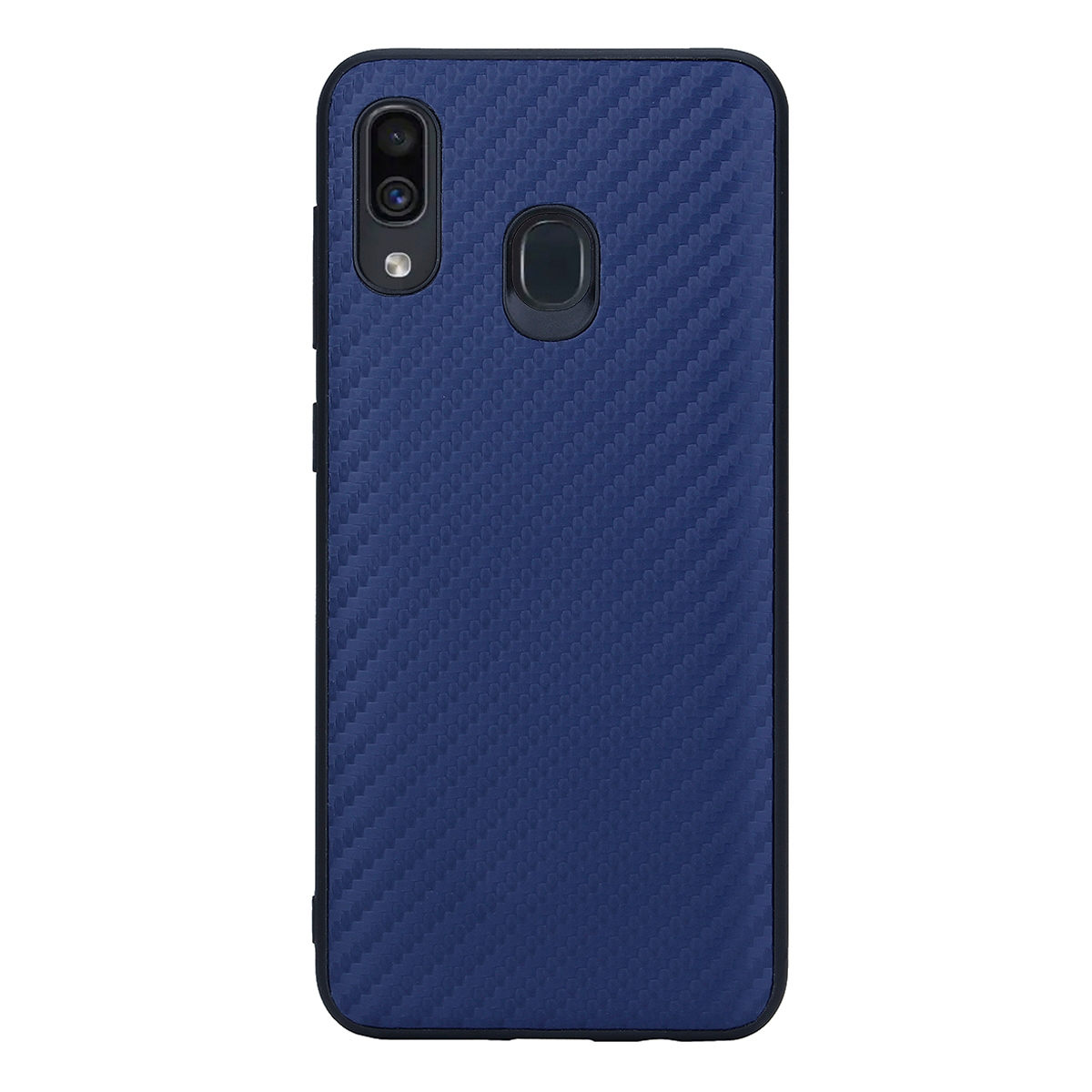 Накладка G-Case Carbon для Samsung Galaxy A30 SM-A305F/ A20 SM-A205F, темно-синяя