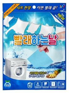 Листовой стиральный порошок для стирки (10 листов) Wash day