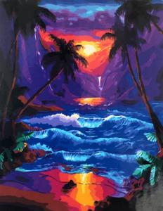 """Картина по номерам на холсте 40х50 см """"Тропический закат"""""""