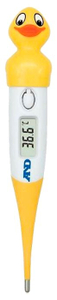 Термометр электронный A&D DT-624 Утенок желтый/белый