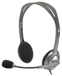 Проводная гарнитура Logitech Stereo Headset H110 серебристый
