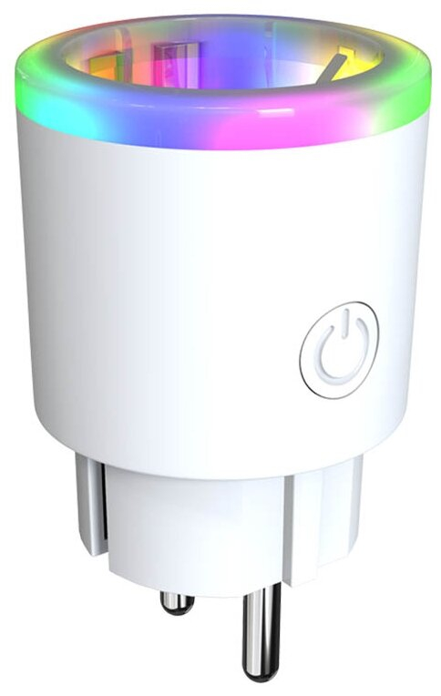 Розетка: HIPER Smart monitoring socket IoT P06/Умная розетка c мониторингом энергии и RGB LED подсветкой/Wi-Fi/AC 100-250В/16А/50-60 Гц/3600 Вт/IoT P0