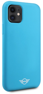 Чехол MINI для iPhone 11 Liquid silicone Hard Blue