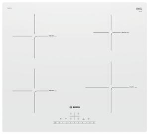 Индукционная варочная поверхность Bosch PUE612FF1J белый