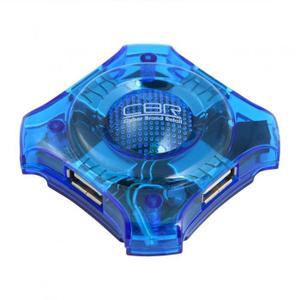 Концентратор USB 2.0 CBR CH 127, 4 порта, голуб.