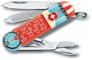 Нож перочинный Victorinox Classic LE2019 Let it Pop (0.6223.L1910) 58мм 7функций голубой/рисунок