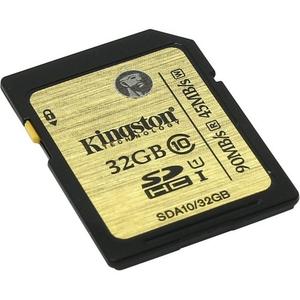 Kingston < SDA10 / 32GB> SDHC Memory Card 32Gb UHS-I, (вскрыта упаковка )