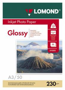 LOMOND 0102025 (A3, 50 листов, 230 г / м2) бумага глянцевая односторонняя
