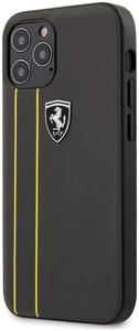 Чехол накладка Ferrari для Apple iPhone 12/12 Pro серый