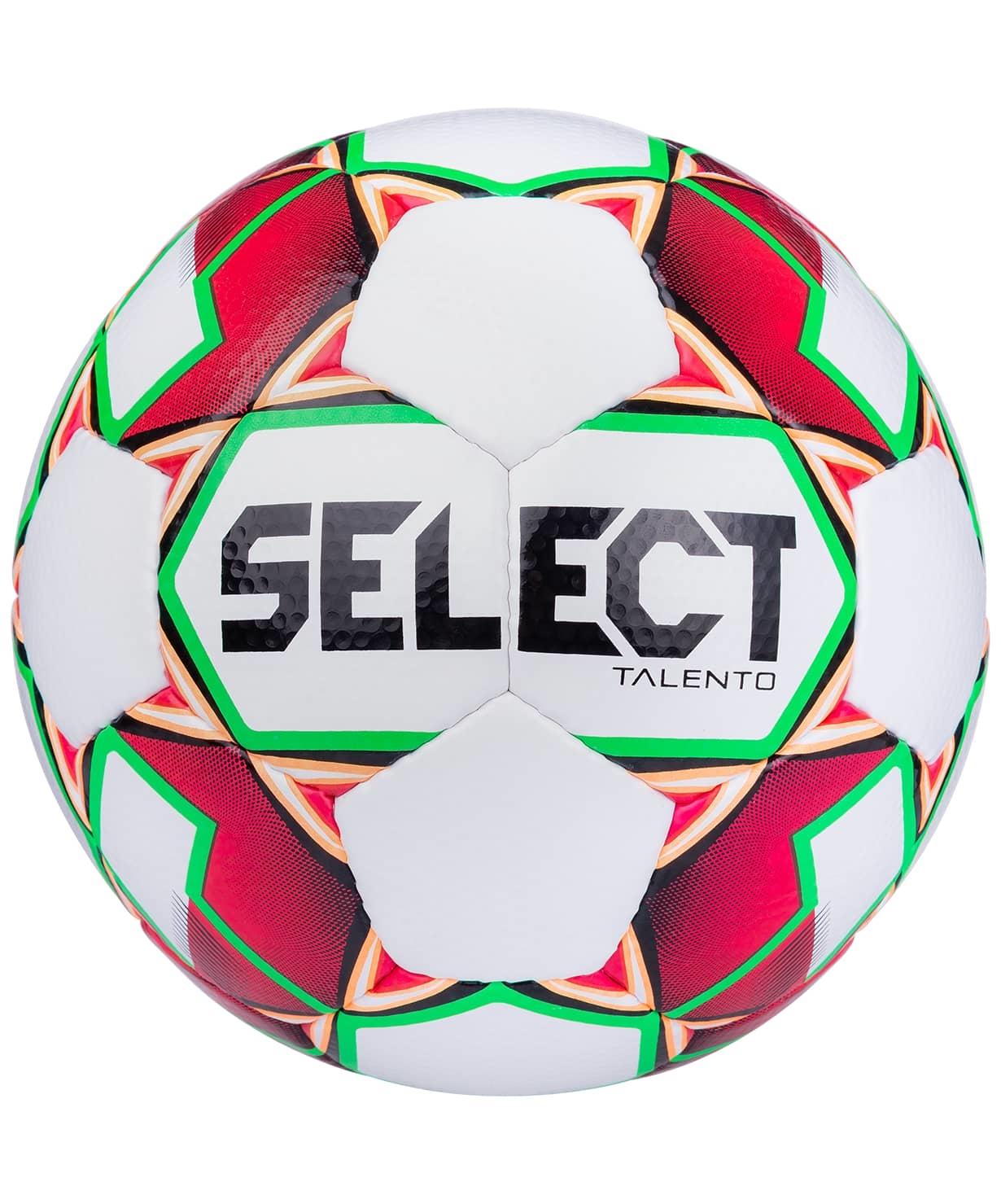 Мяч футбольный Talento 811008, №5, белый/красный/зеленый