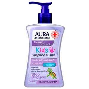 Крем-мыло антибактериальное KIDS 250мл AURA