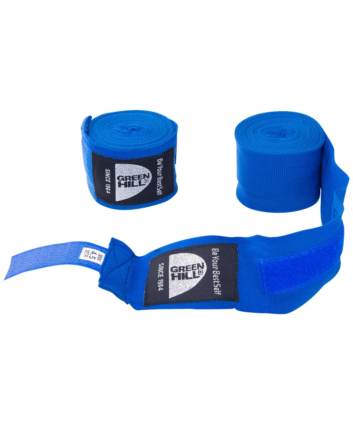 Бинт боксерский BP-6232d, 4,5м, эластик, синий