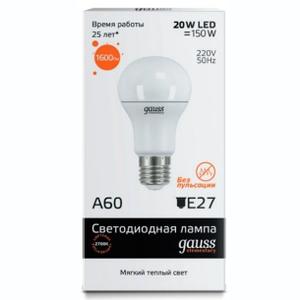 Лампа Gauss LED Elementary A60 20W E27 2700K