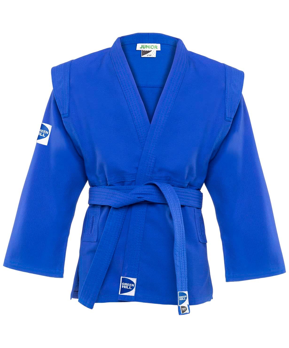 Куртка для самбо Junior SCJ-2201, синий, р.6/190