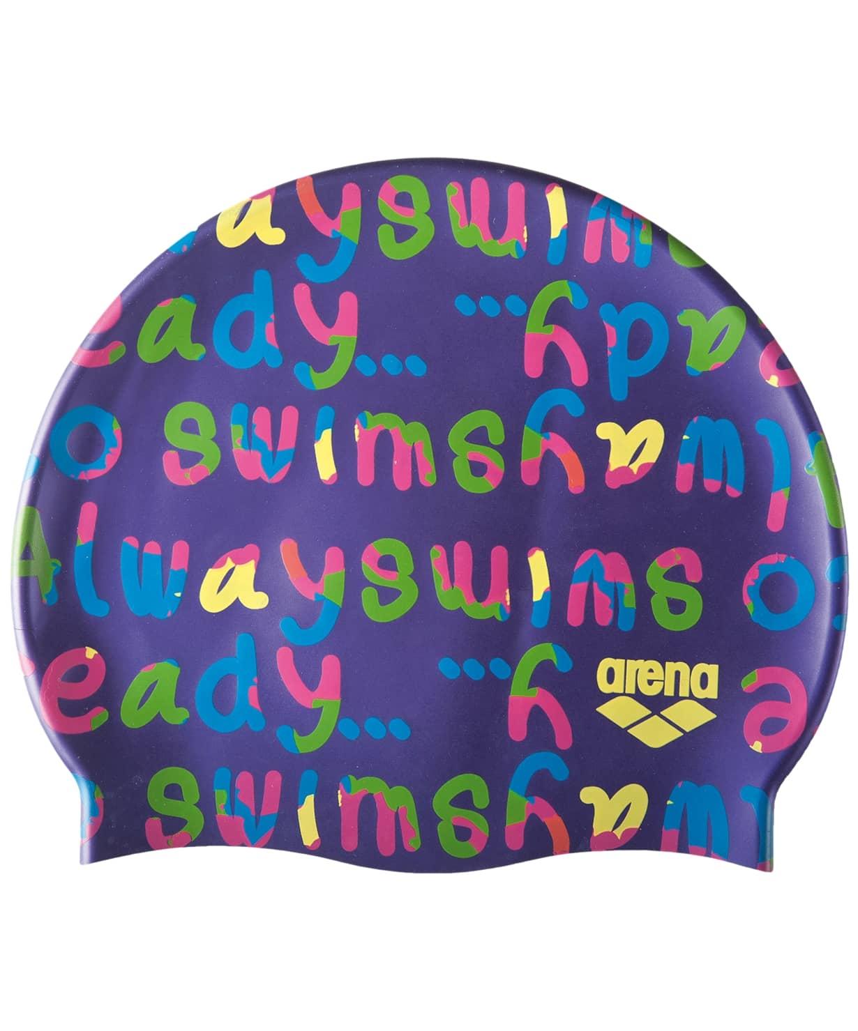 Шапочка для плавания Print Jr Log/Mirtilla, силикон, 94171 981