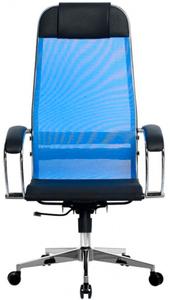 Кресло офисное Метта Комплект 4 (БЕЗ ОСНОВАНИЯ) синий