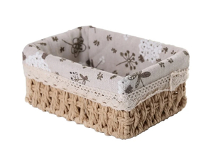 Корзина для хранения плетёная «Полянка», большая, цвет бежевый Доляна