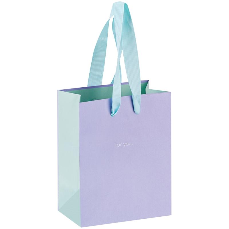 """Пакет подарочный 11*14*6,5см MESHU """"Duotone. Lavender"""", отд. фольгой, матовая ламинация"""