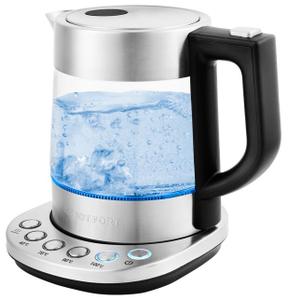 Чайник электрический Kitfort КТ-648 серебристый